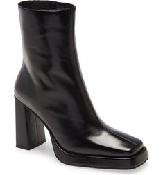 26 Stylish Things for Heading Back-to-School This Semester   Who What Wear Leather Booties, Jeffrey Campbell, Block Heels, Attitude, Nordstrom, Booty, Ankle, Shoes, Women