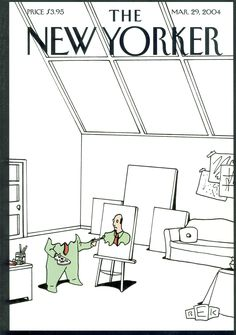 """The New Yorker - Monday, March 29, 2004 - Issue # 4069 - Vol. 80 - N° 6 - Cover """"Self-Portrait"""" by Bruce Eric Kaplan"""