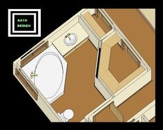Small Master Bath Layout | Free Bathroom Plan Design Ideas - Small Bathroom Designs/Small Master ...