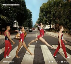 US Olympians Take Abbey Road - Slideshows | NBC Olympics
