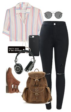 """""""Untitled #825"""" by queenofllama ❤ liked on Polyvore featuring Solid & Striped, Ray-Ban, Various Projects and Master & Dynamic"""
