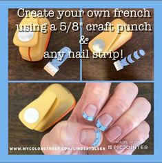 Create your own French manicure with any Color Street nail polish strip! Just use a craft punch! Nail Art Designs, French Manicure Designs, French Tip Nails, Jamberry French Tips, Manicure Colors, Nail Colors, Turquoise Color, Nail Polish Strips, Dry Nail Polish