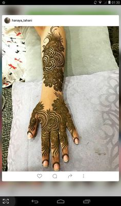 نقش حنا Floral Henna Designs, Henna Designs Feet, Finger Henna Designs, Arabic Henna Designs, Mehndi Designs For Girls, Modern Mehndi Designs, Mehndi Design Pictures, Dulhan Mehndi Designs, Wedding Mehndi Designs