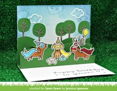 the Lawn Fawn blog: Happy Howloween Birthday Cards + Gift Bags with Jessica!