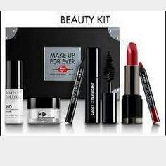 Make Up For Ever Beauty Kit SEALED NEW ~Smoky Extravagant ~Aqua lip 8c ~Rouge Artist Intense #43 ~HD powder ~HD Primer Brand new in box, sealed NO TRADES  NO LOWBALL OFFERS Makeup Forever Makeup