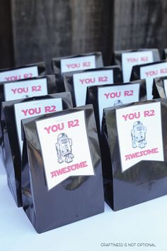 Star Wars Party favors - You R2 Awesome