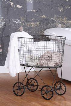 vintage laundry basket.