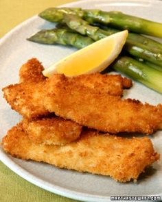 Japanese breadcrumbs, also called panko, add lots of crunch to these fried fish sticks. Sole fillets -- breaded in the traditional ingredients of flour, eggs, and breadcrumbs -- stay tender, flaky, and moist with quick frying.