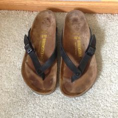 93842ca81ba8 Beautiful like new Adria birks size 37 Birkenstocks Adria black sandals  like new size 37.