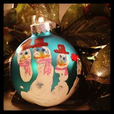 Keepsake Kids Craft: Handprint Snowman Ornaments  Ornaments 005