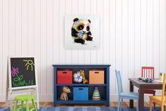 Acryl Gemälde 'Spielender Panda' 60x60cm