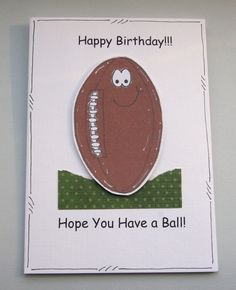 Hope You Have a Ball - Rugby Ball Birthday Card - Can Be Personalised £2.35