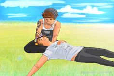 Awe Punk!Louis and Flower!Harry