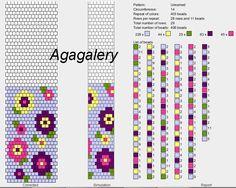 flowers - bead crochet