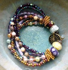 multi strand glass bead bracelet