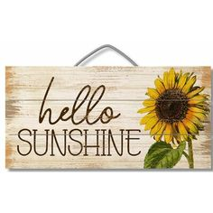 Excited to share this item from my shop: Slatted Pallet Sign, Hello Sunshine, Wreath Decor, Wall Decor, Wood Sign
