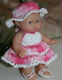 PDF PATTERN Crochet 5 inch Berenguer Baby Doll by charpatterns, $5.00
