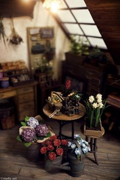 by Studio Soo Miniature Plants, Miniature Rooms, Miniature Fairy Gardens, Miniature Houses, Miniature Furniture, Minis, Fairy Houses, Doll Houses, Mini Doll House