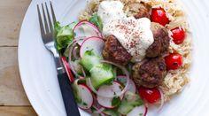 Nadia Lim lamb koftas, good with beetroot relish yum!!