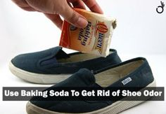 remove shoe odor with baking soda, how to freshen smelly shoes with baking soda