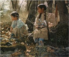 """Ray Swanson Limited Edition Paper Print:""""Indian Summer Play"""""""