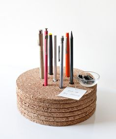 Cork Pencil And Pen Holder