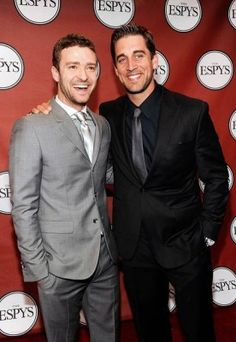 Justin Timberlake and Aaron Rodgers