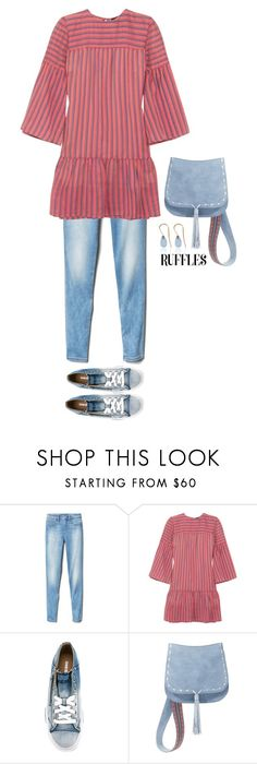 """Ruffles and Jeggings"" by musicfriend1 ❤ liked on Polyvore featuring Gap, Vanessa Seward, Diesel, Steve Madden and Love Is"
