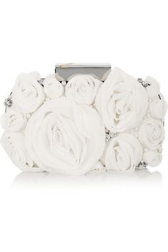 Matthew Williamson Rose appliqued crystal embellished clutch.