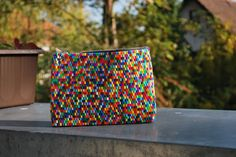 hama clutch - those beads are so versatile! I wonder who made this? it took some time to do! Beaded Clutch, Beaded Bags, Fuse Beads, Perler Beads, Loom Beading, Beading Patterns, Hama Mini, Arts And Crafts, Diy Crafts