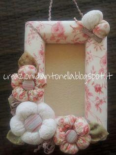 Frame Shelf, Diy Frame, Framed Fabric, Fabric Frame, Frames On Wall, Fabric Flowers, Hair Bows, Picture Frames, Fondant