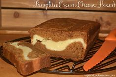 Pumpkin Bread Filled With Cream Cheese