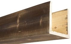 Our box beams provide all of the characteristics of a solid wood beam, at a fraction of the weight! Always made from real oak or cedar, 15 colors. Home Ceiling, Ceiling Beams, Ceilings, Cedar Box, Faux Wood Beams, Wood Sample, Wood Siding, Custom Boxes, Wood Boxes