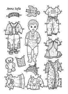 COLOR Karen`s Paper Dolls: Toddler ANNE SOFIE  3 of 6