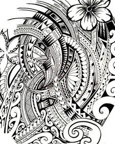 Dessin de Tatouage de style Maori Polynésien