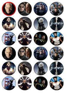 X MEN TOPPER - Buscar con Google