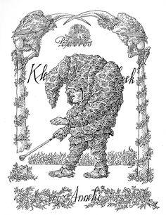 """Klein Pulcinellenboek voor Anneke (""""A Small Punch-book for Anneke,"""" 1969) by Peter Vos ~ 50 watts"""