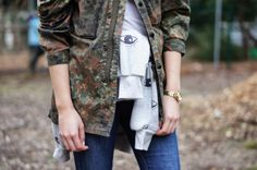 CAMO X EYES | Following-mi streetstyle fashion army military camouflage