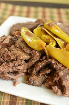 Banana peppers, ranch dressing and butter create the moistest roast! Exciting flavors too!