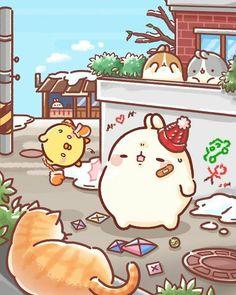 Kawaii Doodles, Cute Kawaii Drawings, Kawaii Cute, Cute Anime Character, Cute Characters, Cute Images, Cute Pictures, Cutest Bunny Ever, Molang