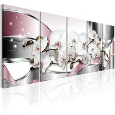 Tableau Shiny Orchids - Taille : 225 x 90 cm