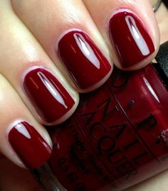 "OPI ""Got the Blues for Red"" #fall #falltowinter #winter"