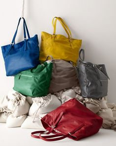 Michaela Leather Tote - Garnet Hill The only problem is, how do I choose a color??