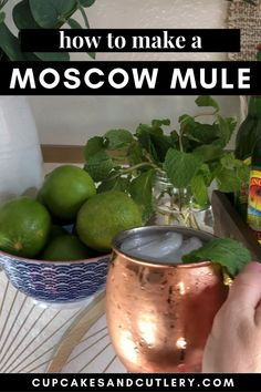 How to make a Moscow Mule. This classic vodka cocktail with ginger beer is super refreshing. It's a delicious drink to sip out of a copper mug. They are awesome in summer but tasty any time of year.
