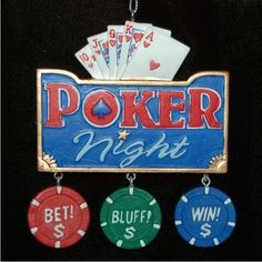Poker Night - Personalized Dad Ornament