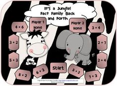 Here's a jungle-themed game where students practice fact families with sums to 10.