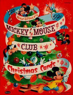 Box of Mickey Mouse Club Christmas Cards, Walt Disney, Disney Fun, Disney Mickey, Disney Cards, Punk Disney, Disney Magic, Disney Movies, Disney Characters, Noel Christmas