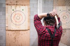 Bad Axe Throwing Toronto is an axe throwing facility located in the Junction . Part of a chain with locations across southwestern Ontario, Bad Axe hos. Lumberjack Wedding, Bad Axe, Fairmont Banff Springs, Summer Dates, Skills To Learn, Pop Up Shops, Important People, Toronto, Things To Do
