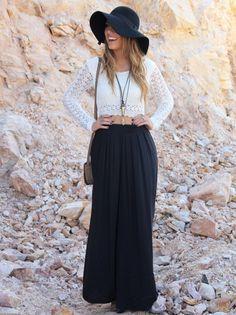 Calça Pantalona Lisa - Mundo Lolita