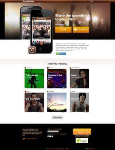 Soundtracking - Mobile App Landing Page Landing Page Examples, App Landing Page, Bokeh, One More Night, The Pretenders, New Business Ideas, Verizon Wireless, Samsung Galaxy S3, Blur
